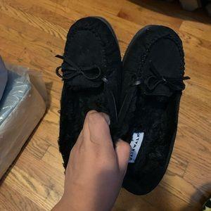 Women's black mocks size 6 1/2